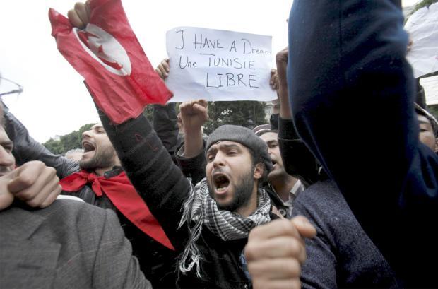 La revolucion de Tunez, la 'plaga' que ataca a los dictadores arabes